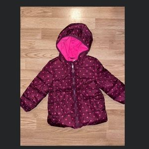Toddler Girls Old Navy Winter Puffer Jacket New